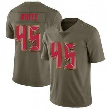 Youth Nike Tampa Bay Buccaneers Devin White White Green 2017 Salute to Service Jersey - Limited