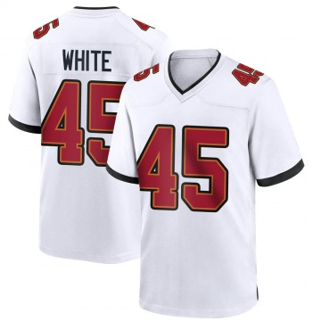 Youth Nike Tampa Bay Buccaneers Devin White White Jersey - Game