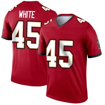 Youth Nike Tampa Bay Buccaneers Devin White White Red Jersey - Legend