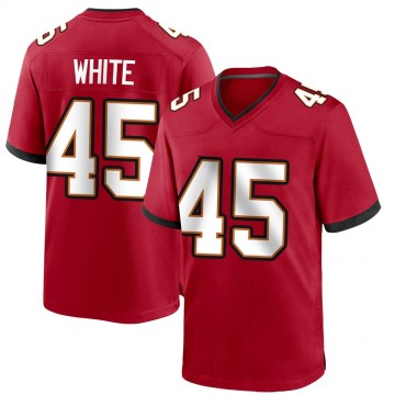 Youth Nike Tampa Bay Buccaneers Devin White White Red Team Color Jersey - Game
