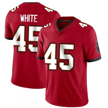 Youth Nike Tampa Bay Buccaneers Devin White White Red Team Color Vapor Untouchable Jersey - Limited