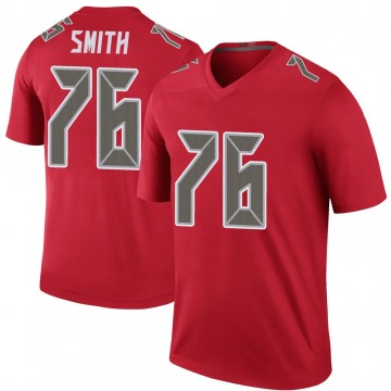 Youth Nike Tampa Bay Buccaneers Donovan Smith Red Color Rush Jersey - Legend