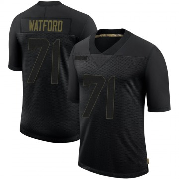 Youth Nike Tampa Bay Buccaneers Earl Watford Black 2020 Salute To Service Jersey - Limited