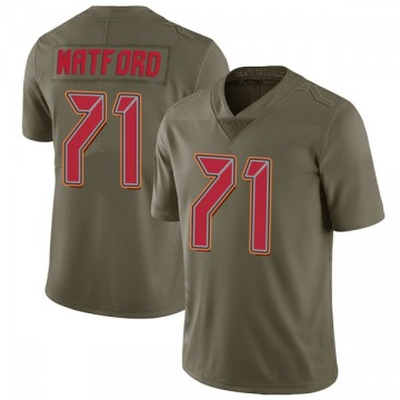 Youth Nike Tampa Bay Buccaneers Earl Watford Green 2017 Salute to Service Jersey - Limited