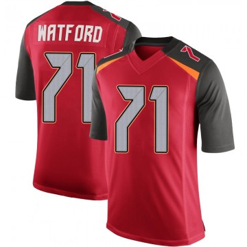 Youth Nike Tampa Bay Buccaneers Earl Watford Red 100th Vapor Jersey - Limited