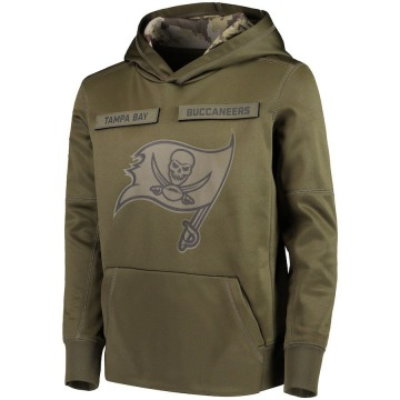 Youth Nike Tampa Bay Buccaneers Green 2018 Salute to Service Pullover Performance Hoodie -