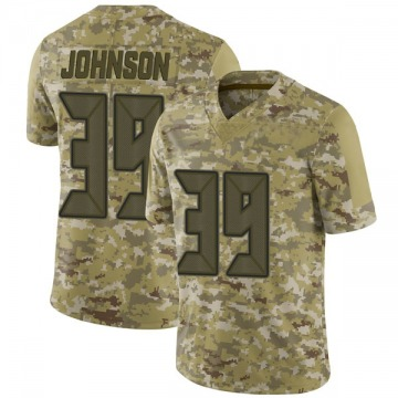Youth Nike Tampa Bay Buccaneers Isaiah Johnson Camo 2018 Salute to Service Jersey - Limited