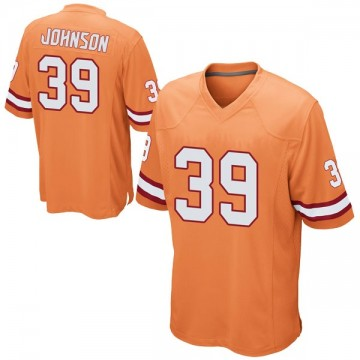 Youth Nike Tampa Bay Buccaneers Isaiah Johnson Orange Alternate Jersey - Game