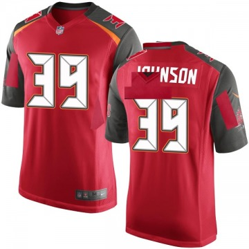 Youth Nike Tampa Bay Buccaneers Isaiah Johnson Red Team Color Jersey - Game