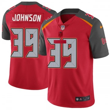 Youth Nike Tampa Bay Buccaneers Isaiah Johnson Red Team Color Vapor Untouchable Jersey - Limited