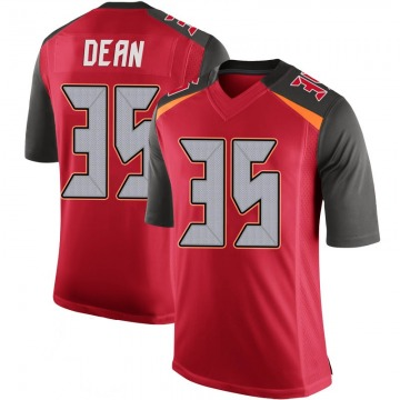 Youth Nike Tampa Bay Buccaneers Jamel Dean Red 100th Vapor Jersey - Limited