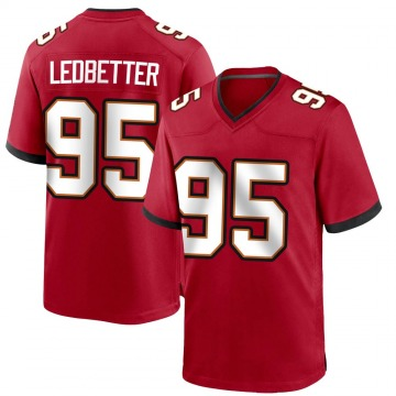 Youth Nike Tampa Bay Buccaneers Jeremiah Ledbetter Red Team Color Jersey - Game