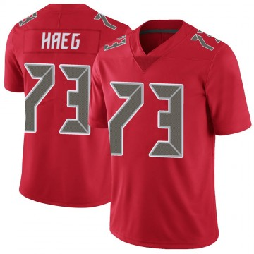 Youth Nike Tampa Bay Buccaneers Joe Haeg Red Color Rush Jersey - Limited