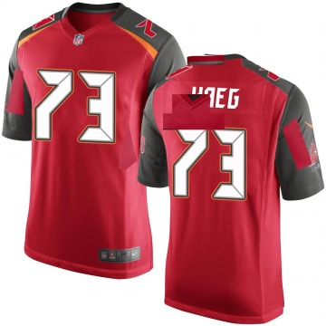 Youth Nike Tampa Bay Buccaneers Joe Haeg Red Team Color Jersey - Game