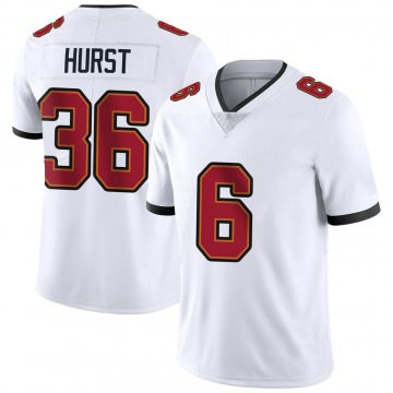 Youth Nike Tampa Bay Buccaneers John Hurst White Vapor Untouchable Jersey - Limited
