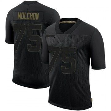 Youth Nike Tampa Bay Buccaneers John Molchon Black 2020 Salute To Service Jersey - Limited