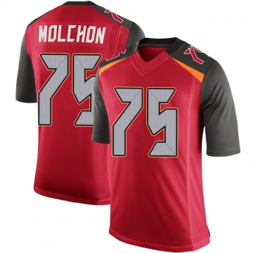 Youth Nike Tampa Bay Buccaneers John Molchon Red 100th Vapor Jersey - Limited
