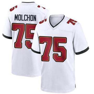 Youth Nike Tampa Bay Buccaneers John Molchon White Jersey - Game