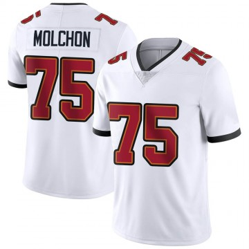 Youth Nike Tampa Bay Buccaneers John Molchon White Vapor Untouchable Jersey - Limited