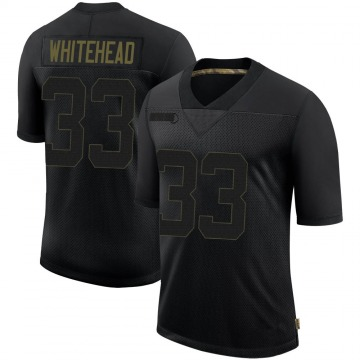 Youth Nike Tampa Bay Buccaneers Jordan Whitehead Black 2020 Salute To Service Jersey - Limited