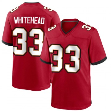Youth Nike Tampa Bay Buccaneers Jordan Whitehead White Red Team Color Jersey - Game