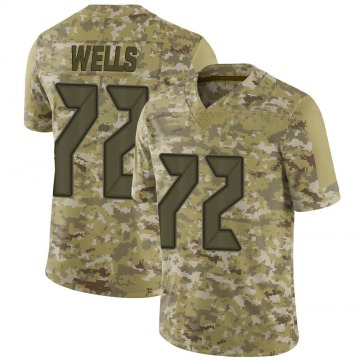 Youth Nike Tampa Bay Buccaneers Josh Wells Camo 2018 Salute to Service Jersey - Limited