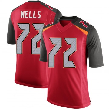 Youth Nike Tampa Bay Buccaneers Josh Wells Red 100th Vapor Jersey - Limited