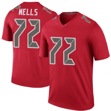 Youth Nike Tampa Bay Buccaneers Josh Wells Red Color Rush Jersey - Legend