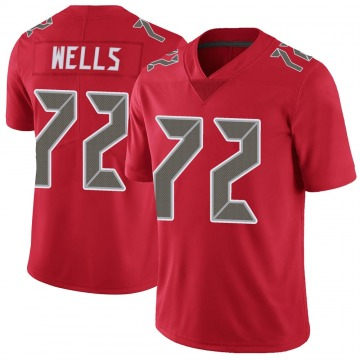 Youth Nike Tampa Bay Buccaneers Josh Wells Red Color Rush Jersey - Limited