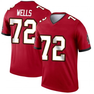 Youth Nike Tampa Bay Buccaneers Josh Wells Red Jersey - Legend