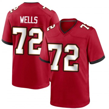 Youth Nike Tampa Bay Buccaneers Josh Wells Red Team Color Jersey - Game