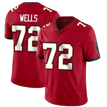 Youth Nike Tampa Bay Buccaneers Josh Wells Red Team Color Vapor Untouchable Jersey - Limited