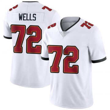 Youth Nike Tampa Bay Buccaneers Josh Wells White Vapor Untouchable Jersey - Limited