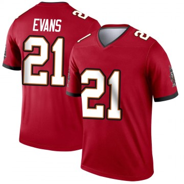 Youth Nike Tampa Bay Buccaneers Justin Evans Red Jersey - Legend