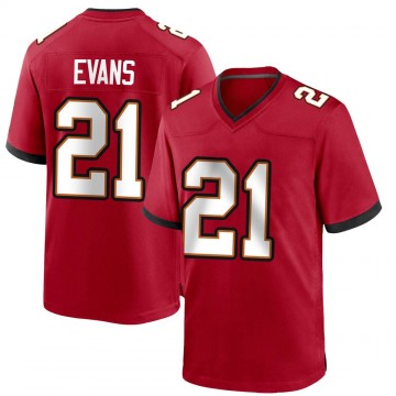 Youth Nike Tampa Bay Buccaneers Justin Evans Red Team Color Jersey - Game