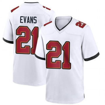 Youth Nike Tampa Bay Buccaneers Justin Evans White Jersey - Game