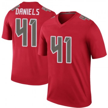 Youth Nike Tampa Bay Buccaneers Kahzin Daniels Red Color Rush Jersey - Legend