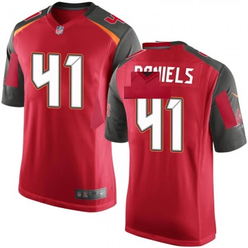 Youth Nike Tampa Bay Buccaneers Kahzin Daniels Red Team Color Jersey - Game