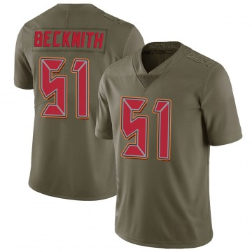 Youth Nike Tampa Bay Buccaneers Kendell Beckwith Green 2017 Salute to Service Jersey - Limited