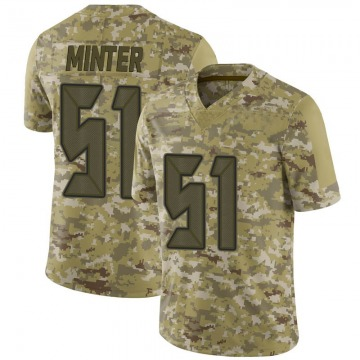 Youth Nike Tampa Bay Buccaneers Kevin Minter Camo 2018 Salute to Service Jersey - Limited
