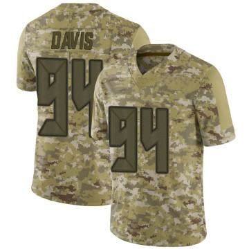 Youth Nike Tampa Bay Buccaneers Khalil Davis Camo 2018 Salute to Service Jersey - Limited