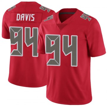 Youth Nike Tampa Bay Buccaneers Khalil Davis Red Color Rush Jersey - Limited