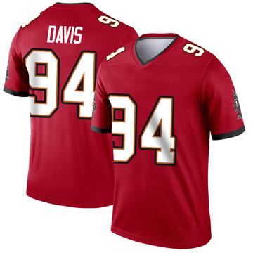 Youth Nike Tampa Bay Buccaneers Khalil Davis Red Jersey - Legend