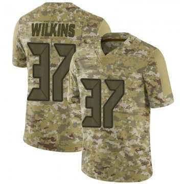Youth Nike Tampa Bay Buccaneers Mazzi Wilkins Camo 2018 Salute to Service Jersey - Limited