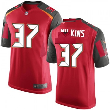 Youth Nike Tampa Bay Buccaneers Mazzi Wilkins Red Team Color Jersey - Game
