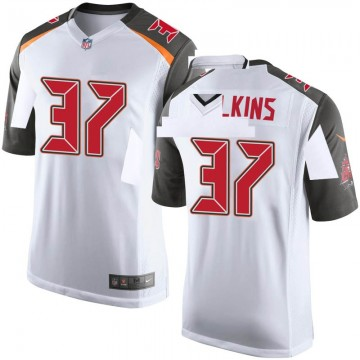 Youth Nike Tampa Bay Buccaneers Mazzi Wilkins White Jersey - Game