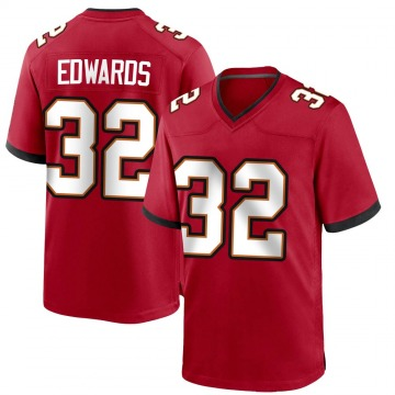 Youth Nike Tampa Bay Buccaneers Mike Edwards Red Team Color Jersey - Game