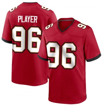 Youth Nike Tampa Bay Buccaneers Nasir Player Red Team Color Jersey - Game
