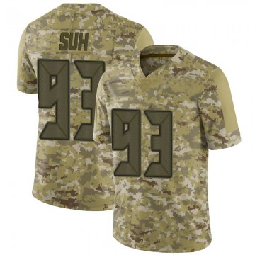 Youth Nike Tampa Bay Buccaneers Ndamukong Suh Camo 2018 Salute to Service Jersey - Limited