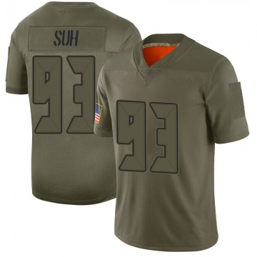 Youth Nike Tampa Bay Buccaneers Ndamukong Suh Camo 2019 Salute to Service Jersey - Limited